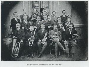Die Müllheimer Musikkapelle um das Jahr 1860